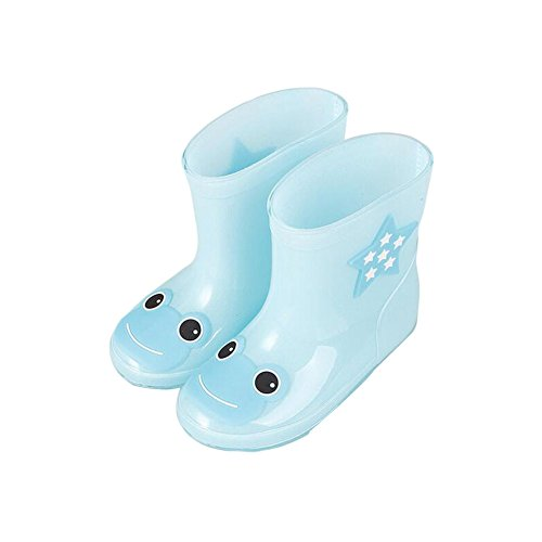 Zhuhaixmy Unisex Kinder Rainboots Regen Stiefel Wasserdicht Animal Prints Jungen Mädchen Gummi Rain Shoes Boots Regen Schuhe Wasser Schuhe Light Blue