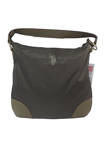US Polo Assn Tasche Large Grays Farbe Taupe Wohnung Hobo Taupe