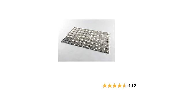 100x500mm 5//6,5 Aluminium-Riffelblech L/änge 500//600//750//1000//1500mm Warzenblech