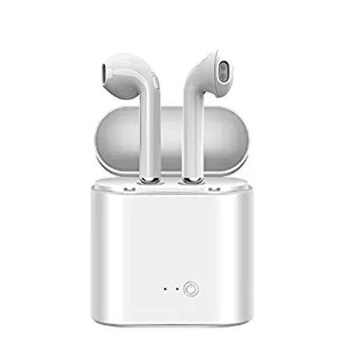 Nakalus Auricolare Bluetooth Mini-in-Ear, Cuffia Wireless, Bluetooth 4.2, Stereo, Magnetico, Vivavoce con Microfono, Auricolare per dispositivi iOS e Android (White)