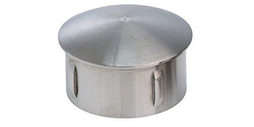 Edelstahlkappe V4A geschliffe (Rohr 33.7x1.6-2.6)