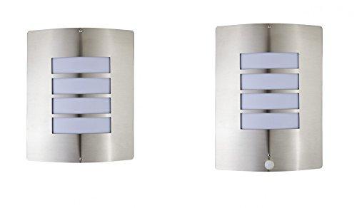 Wandleuchte außen Edelstahl Bewegungsmelder Gartenlampe Wandlampe Gartenstrahler (1 x ohne Bewegungsmelder)
