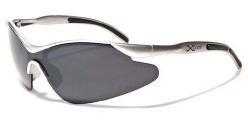 X-Loop Kinder Junge Sport-Verpackungs-Schild Baseball Angeln Sonnenbrille - 100 Rauch Klein Silber