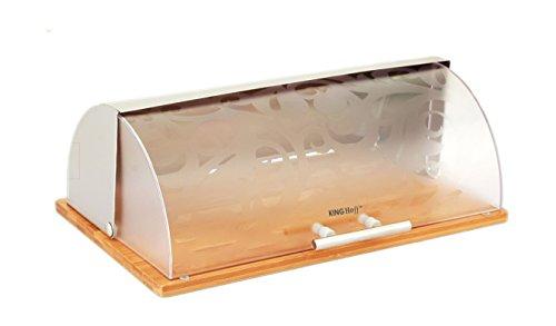 Brotkasten aus Holz und Metall, 38 x 24 x 14 cm Brotbox