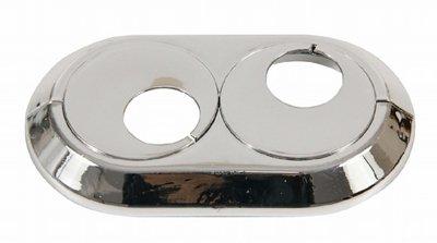 Doppel 18 mm pvc chrome Heizungsrohr Deckelkragen stieg drehbar (Heizkörper Isolierung)