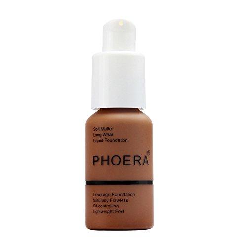 Transer yao Foundation Cream 10 couleurs, matte oil control concealer,long lasting waterproof fluide teint liquide foundation makeup maquillage nude (110)