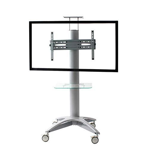 IG Haushalt Dual Use Mobile TV-Bodenständer für 32-55 Zoll Räder Mobile Höhenverstellbar für Flachbildschirm-LED-LCD-Plasma-Bildschirm Schlafzimmer Wohnzimmer Konferenzbüro (Räder Tv-bodenständer)