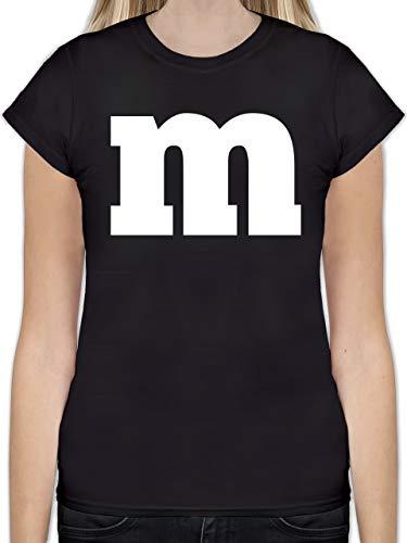 Karneval & Fasching - Gruppen-Kostüm m Aufdruck - L - Schwarz - L191 - Tailliertes Tshirt für Damen und Frauen T-Shirt