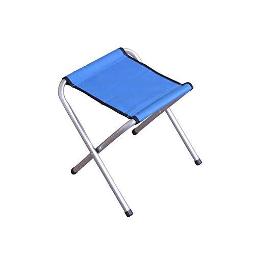 Loisir Tabouret pliant, chaise pliante en aluminium, chaise pliante de pêche, chaise de camping, train Mazawa, petit banc Accueil (Taille : Bleu)