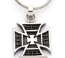 CHANTI - Cross pendant in oxidised sterling silver - Model:5814