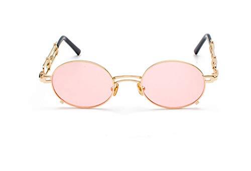 QJKai Sonnenbrille, Retro Sonnenbrille, Metall Sonnenbrille, Hipster Brille