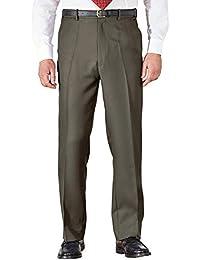Chums Mens Stretch Waist Formal Smart Work Trouser Pants Black  44W x 27L