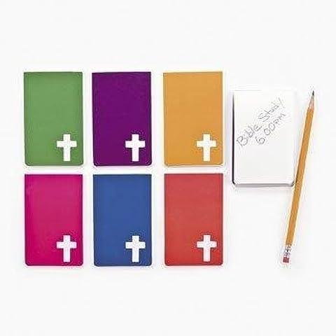 Religioso Croce Blocco con (2Dozzina)–Bulk - Adesivo Religiosi