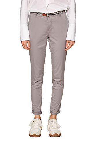 ESPRIT Damen 999EE1B800 Hose, Grau (Light Grey 040), W36/L32(Herstellergröße: 36/32)