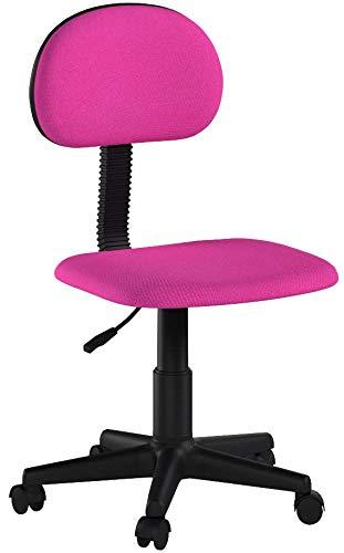 Adec - Lucky, Silla de Escritorio giratoria, Silla Juvenil de oficina, acabado en color Rosa, Medidas: 54 x 88 cm...