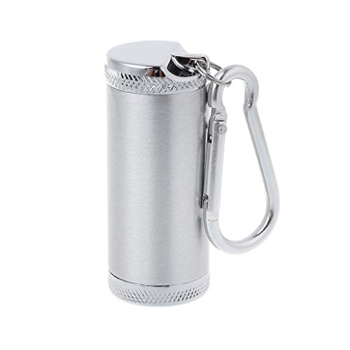Nysunshine Tragbarer Mini-Aschenbecher für Outdoor-Sportarten Zigarettentasche für Angeln Wandern Silber Silber m