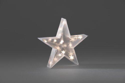 Konstsmide 2592-103 LED Kunststoffstern mit Sterneffekt / für Innen (IP20) / 24V Innentrafo / 20 warm weiße Dioden / transparentes Kabel - 3