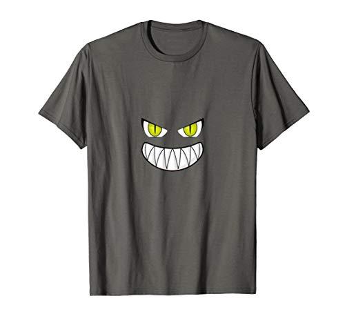 Furchtsame Kostüm Gesicht Kinder Geist - Furchtsames lächelndes Gesicht gruseliges Halloweens T-Shirt
