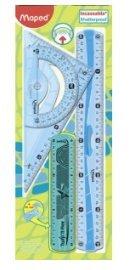 MAPED Kit de Traçage Géométrie Incassable Flexible 4 Piéces