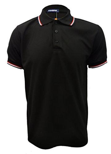 Herren Schlichtes Polo-Shirt, Herren T-Shirt Collar Herren Top Button Sommer günstig: M-XXXL Weiß - Schwarz