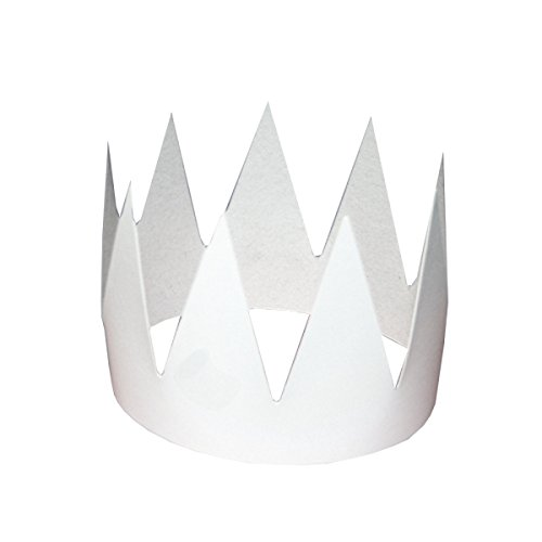 Karton Krone mit Gummi basteln malen 10 Stk Kindergeburtstag Prinzessin König