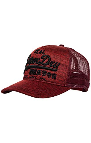 Superdry Herren Baseball Cap M90001mr, Rot (Red Rock Grit Uh3), One Size...