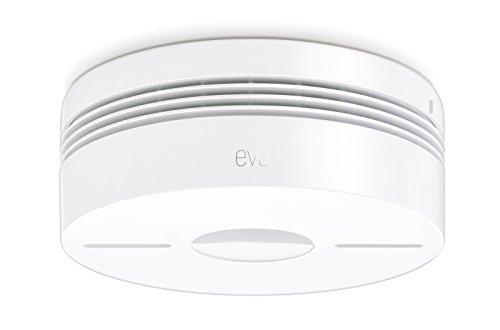 Eve Smoke - Rauch & Hitze Dualwarnmelder mit Apple HomeKit-Technologie, Selbstprüfung, Alarm für mehrere Räume, Bluetooth Low Energy Technologie, zertifiziert nach DIN EN 14604