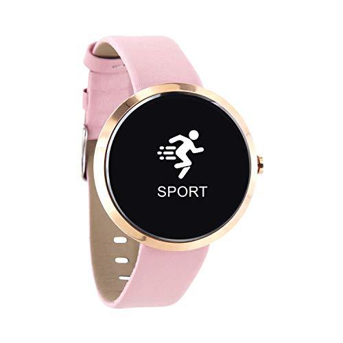 X-WATCH SIONA Smartwatch Damen iOS und Android Watch - Damenuhr rosegold Aktivitätstracker Damen elegant Fitnessarmband mit Herzfrequenz Fitness Uhr mit Schrittzähler - 5