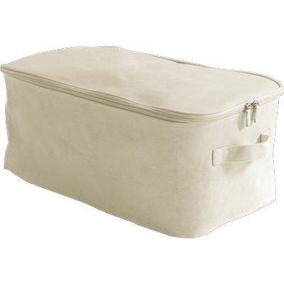 Fill Bac de rangement en toile blanche 26 x 48 x h19 cm Bianco