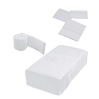 Micuna Aura - Pack de edredón, protector y juego sábanas para cuna