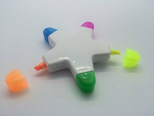 (5in 1highlighter Pen–Seestern Design–Gelb, Blau, Grün, Orange, Pink)