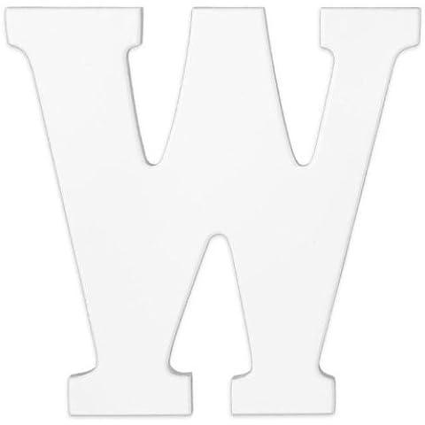KidKraft 63154-Giocattolo in legno, lettera W, colore: bianco