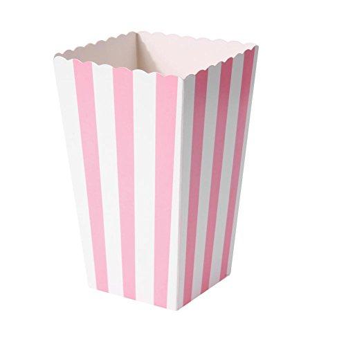 Demiawaking 12 stück Popcorn Boxes Streifen Muster Faltbar Pappe für Party Wedding Candy Container Faltbar Box