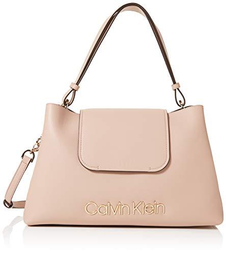 Calvin Klein Damen Dressed Up Top Handle Tornistertasche, Pink (Nude), 15.3x23x30.5 cm