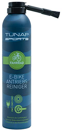 TUNAP SPORTS Antriebsreiniger, 300 ml Perfekte Reinigung von Kette und Ritzel am Elektrorad Pinselbürste gegen Fingerverschmieren (E-Bike)