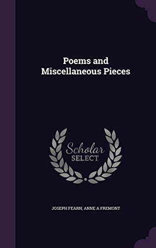 Poems and Miscellaneous Pieces