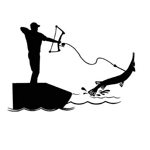 Fischerei Aufkleber Auto Angst Fisch Aufkleber Angeln Haken Tackle Shop  Poster Vinyl Wandtattoos Hunter Decor Wandbild Aufkleber 58x83CM