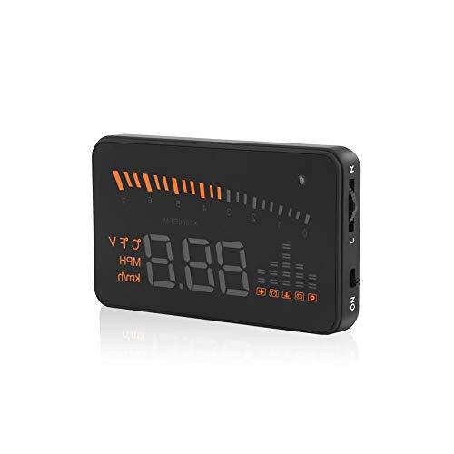 3'Universal Hud Heads Up Display Auto GPS KMH MPH Over Speed   Speedometer OBD2 Interfaccia EUOBD con pellicola riflettente