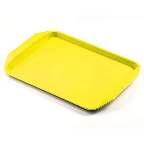 BSTLY placa plástica multi-especificaciones comida bandeja restaurante suministros de cocina naranja 457...