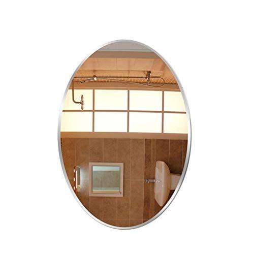 Miroir de maquillage ovale miroir Mural Salle de Bains, HD sans Cadre meulage exquis 1.5cm hypoténuse décoratif miroir miroir Mural (Taille: 60x80cm)