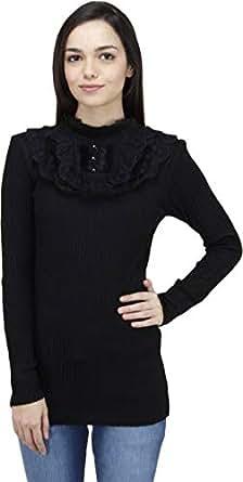 CAMEY Women's Wool Winter Top (Black; Free Size)