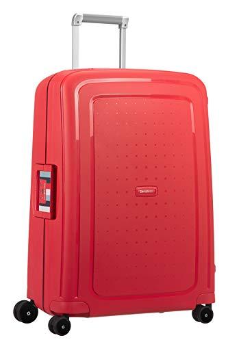 Samsonite S'Cure - Spinner Equipaje de Mano 69 Centimeters 79 Rojo (Capri Red Stripes)