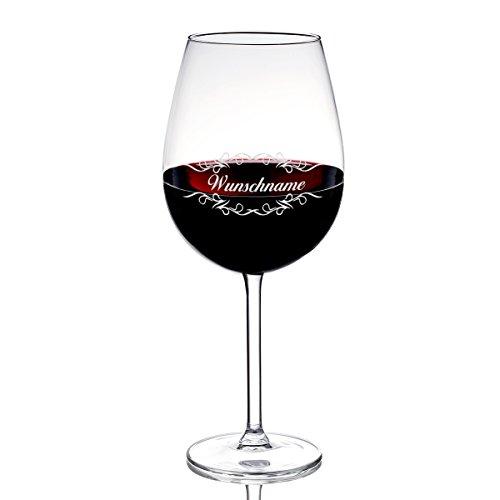 polar-effekt Weinglas mit Gravur des Namens - Wein-Glas 590 ml Geschenkidee - Wein-glas-vitrine