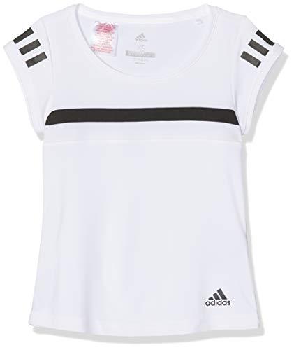 adidas Mädchen Graphic Club Kurzarm T-Shirt, White, 128 - Graphic T-shirt Short