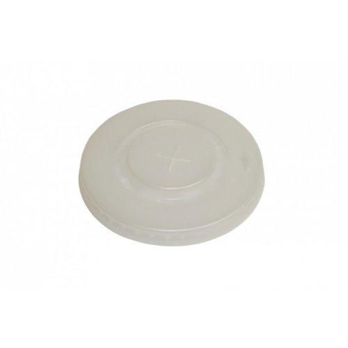 Deckel aus PS - mit Kreuzschlitz - transparent für Pappbecher - Ø90mm - 100 Stück