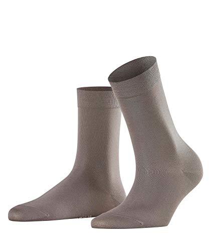Muster Fußkettchen Socken (FALKE Damen Cotton Touch hautschmeichelnde Socken, Blickdicht, platinum, 35-38)