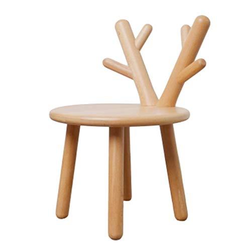 Zurück Stühle, Hocker (Yuany Hocker Kleine Hocker Tritthocker Sofa Hocker Stuhl Massivholz zurück Kindergarten Kinder ändern Schuhe Cartoon Home26x26x46cm 01)