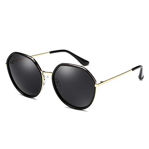 Polarisierte Sonnenbrille Weibliche Runde Gesicht Langes Gesicht Großes Gesicht Farbfilm Große Sonnenbrille, Anti-uv Sonnencreme, Verwendet, Um Touristische Fahren Zu Schmücken. ( Color : Black )