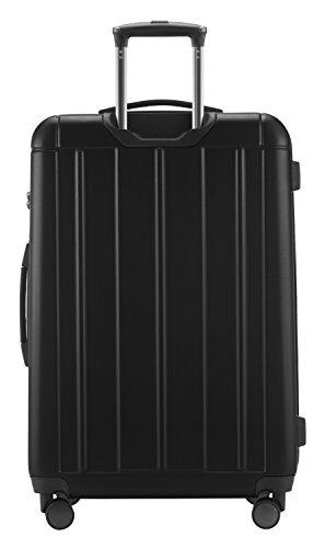 HAUPTSTADTKOFFER - Kotti - 2er Koffer-Set Trolley-Set Rollkoffer Reisekoffer, TSA, (S & L), Schwarz matt - 8