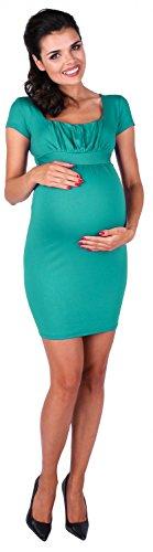 Zeta Ville Damen - Umstandskleid - Jersey-Kleid für Schwangere Gr. 36-50 - 081c Teal